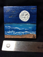 """OBX Carolina Moon"" Mini Painting"