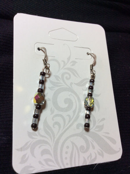 Pewter Crystal Handmade Stainless Earrings
