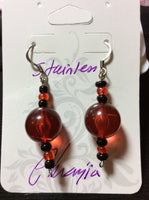 Vintage Orange Acrylic Handmade Stainless Earring