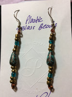 Teardrop Acrylic Turquoise Handmade Stainless Earrings