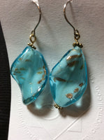 Glass Dangle Handmade Stainless Earrings