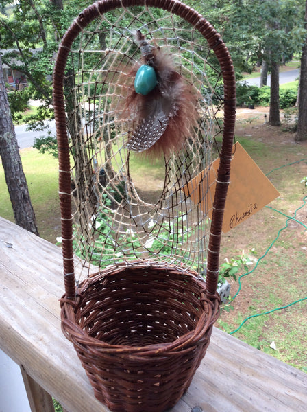 Hand Woven Dream Catcher Basket