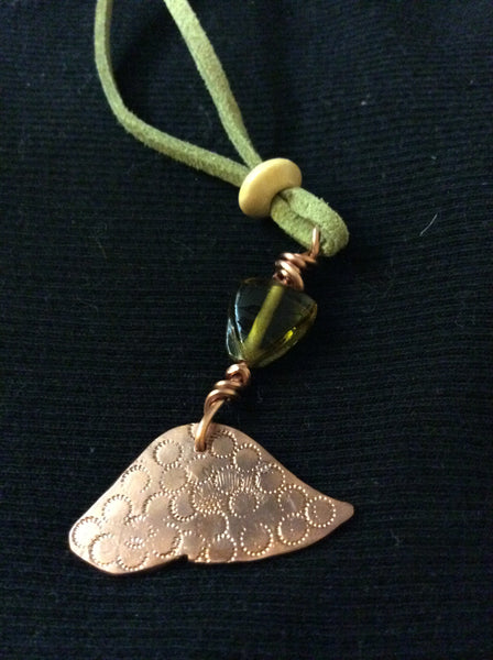 Copper Handmade Peace Pendant