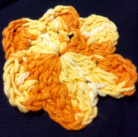 Set of Six Flower Crocheted Coasters