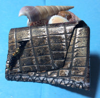 Embossed Leather Handmade Coin Purse