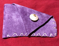 Purple Leather Handmade Coin Purse