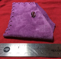 Purple Leather Handmade Card Case