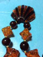 Acrylic Amber Handmade Seashell Necklace