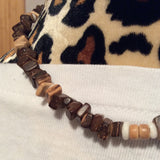 Square Coconut Shell Necklace