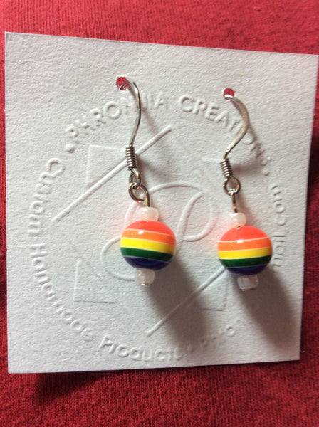 Rainbow Small Stainless Earrings