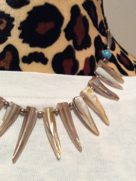Silver MOP Necklace, Bracelet and Stainless Earrings