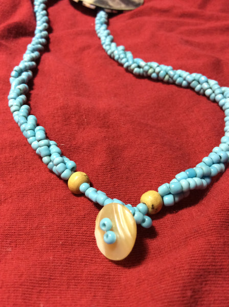 Shell Inlay Necklace