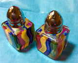 Striped Mini Painted Salt & Pepper Shakers