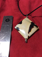 Silver, Leather and Jasper Necklace