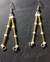 Gold Rochelle Glass Stainless Earrings