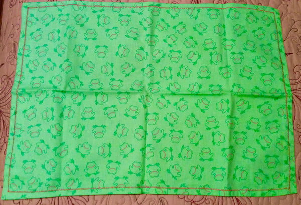 Froggy Handmade Burp Cloth