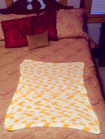 Yellow Verigated Baby Blanket