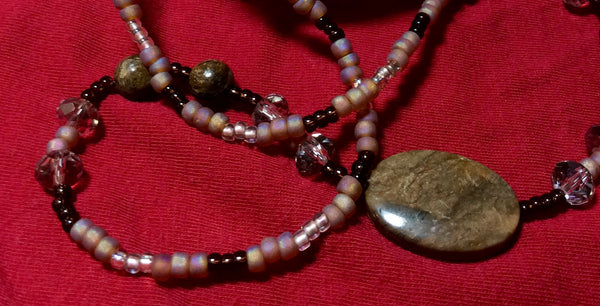 Jasper and Glass Necklace