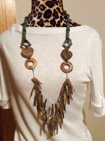 Wood Bohemian Necklace