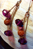 Purple Crystal Dangle Earrings