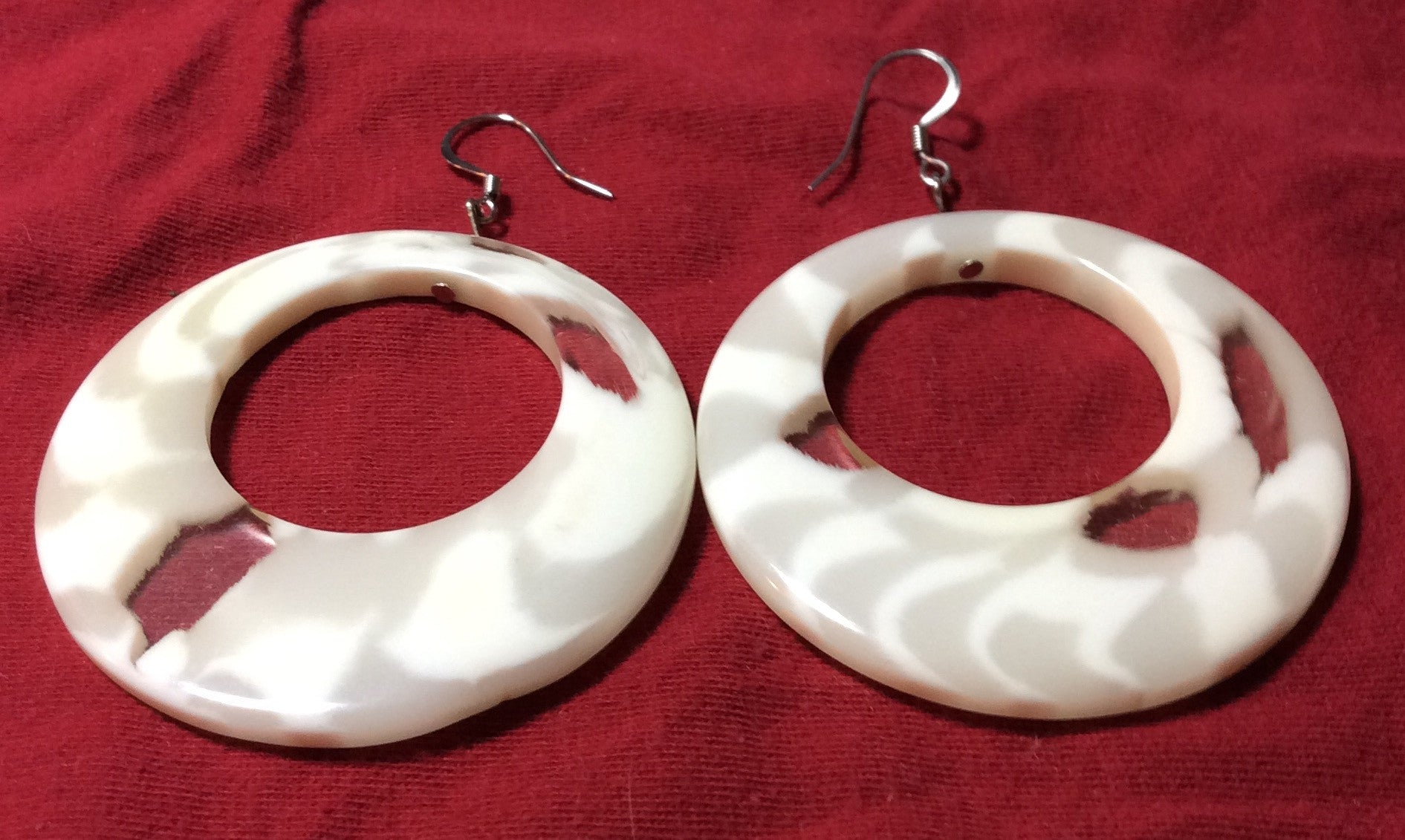 Cream Swirl Earrings