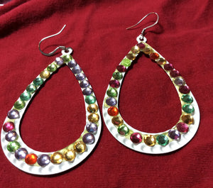 Colorful Rhinestones Earrings