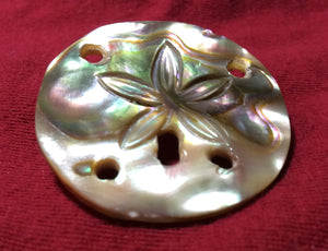 Mother of Pearl Sand Dollar Pin