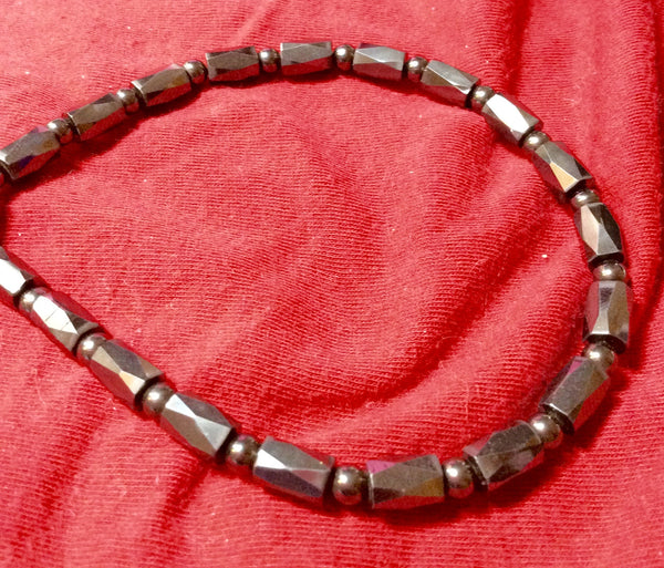 All Hematite Necklace