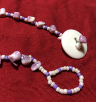 Lavender Necklace, Bracelet and Earring Set
