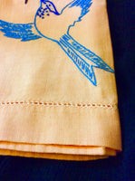 Embroidered Linen Hand Towel