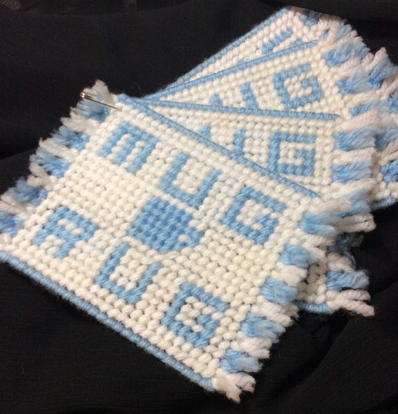 Carolina Blue Mug Rug Set