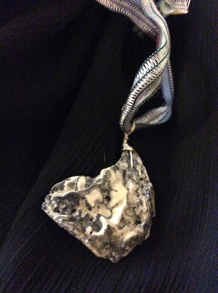 Pewter Enhanced Seashell Pendant