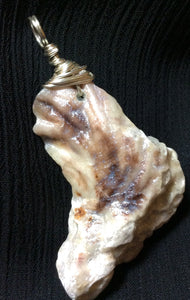Lady Slipper Seashell Pendant