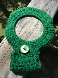 Cabinet Door Crocheted Towel Hanger