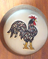 Rooster Pie Safe Art Wall Hanging