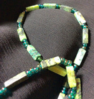 Unique Yellow Turquoise Handmade Necklace