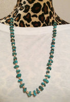 Turquoise Nugget and Shell Heishi Bead Handmade Necklace
