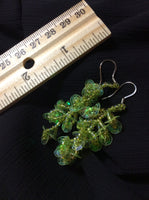 Sequin and Aurora Borealis Glass Bead Earrings