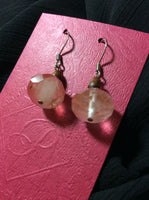 Organic Rose Quartz Stainless Earrings