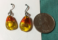 Dichroic Fused Glass Stainless Earrings
