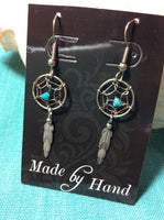 Silver Dreamcatcher Stainless Earrings
