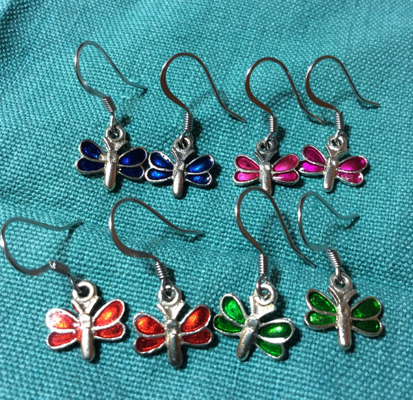 Cute Petite Butterfly Stainless Earrings