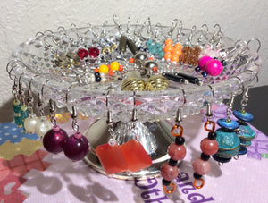 Christmas Handmade Earring Set With Antique Western Germany Crystal