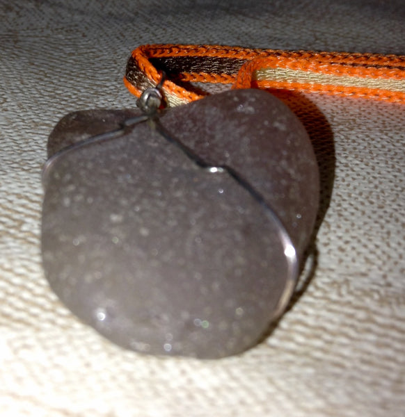 Antique Beach Glass Pendant
