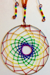 Rainbow 'Pride' Dream Catcher Pendant