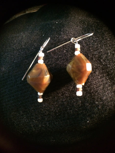 Vintage Acrylic Dangle Earrings
