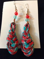 Feather Paracord Earrings