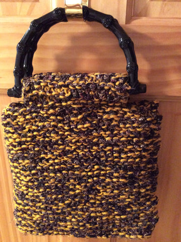 Goldenrod Variegated Knitted Purse