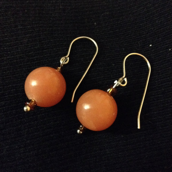 Vintage Rusty Orange Acrylic Earrings