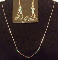 Sterling Earrings and Liquid Silver Necklace